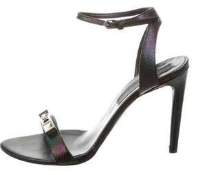 Proenza Schouler Iridescent Stud-Embellished Sandals