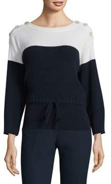 Agnona Cashmere Colorblock Sweater