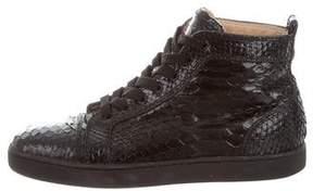 Christian Louboutin Rantus Orlato Python Sneakers