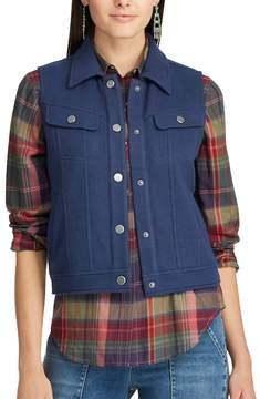 Chaps Women's Fleece Trucker Vest