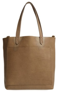 Madewell Medium Leather Transport Tote - Green