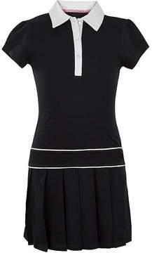 U.S. Polo Assn. USPA Button-Front Pleated-Bottom Dress - Preschool Girls 4-6x