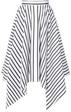 ADAM by Adam Lippes striped handkerchief skirt
