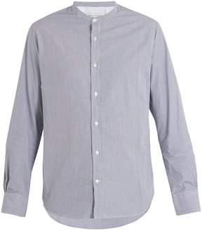 Officine Generale Gaspard stand-collar striped cotton shirt