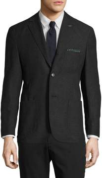 Michael Bastian Gray Label Men's Wool Pick Stitch Notch Lapel Blazer