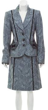 Christian Lacroix Wool A-Line Skirt Set