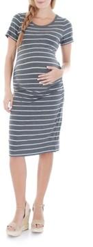 Everly Grey Women's 'Camila' Stripe Maternity Dress