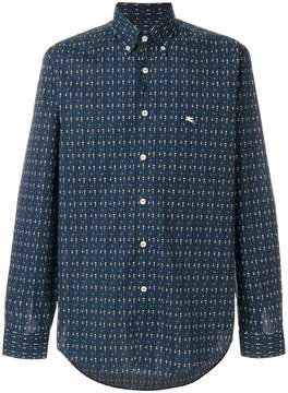 Etro suit print button down shirt