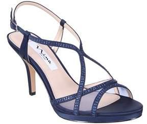 Nina Blossom Platform Satin/mesh Sandal.