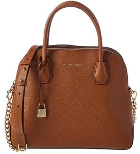 MICHAEL Michael Kors Mercer Large Dome Satchel. - TAN - STYLE