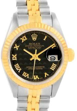 Rolex Datejust 69173 Stainless Steel and 18K Yellow Gold 26mm Womens Watch