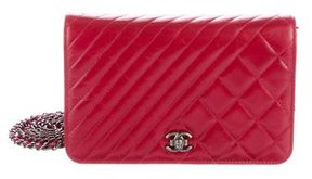 Chanel 2015 Calfskin Wallet On Chain