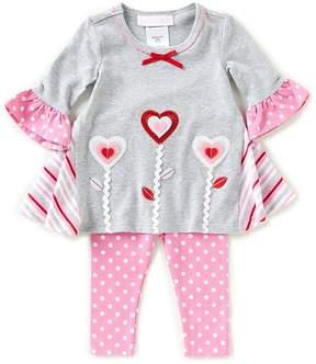 Bonnie Jean Bonnie Baby Baby Girls Newborn-24 Months Valentine's Heart Dress & Dotted Leggings Set