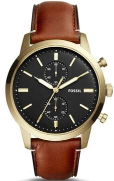 Fossil Men's Townman Chronograph Gold Tone Case Watch FS5338