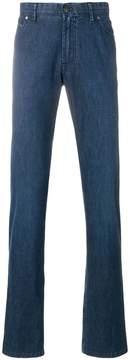 Brioni long length loose-fit jeans