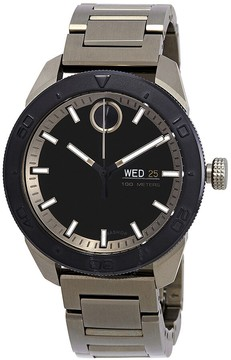 Movado Bold Black Dial Men's Khaki-Toned ion-Plated Watch