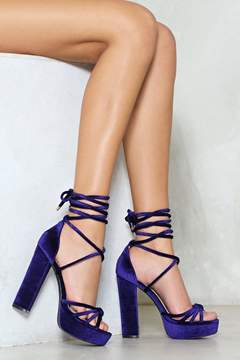 Nasty Gal Knot Your Baby Velvet Heel