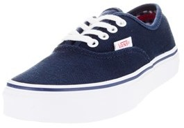 Vans Kids Authentic (twill & Gnghm) Skate Shoe.