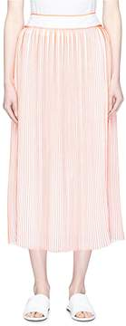 Victoria Beckham VICTORIA, Stripe pleated crepe skirt