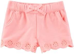 Osh Kosh Oshkosh Bgosh Baby Girl Eyelet Embroidered Shorts