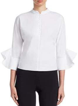 Emporio Armani Cotton Bell-Sleeve Shirt