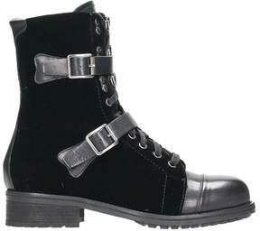 Julie Dee Black Velvet Boots