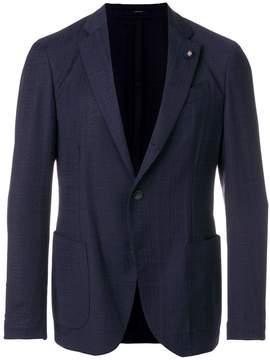 Lardini straight-fit suit jacket
