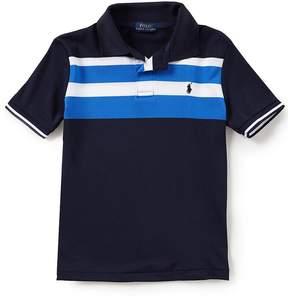 Ralph Lauren Little Boys 5-7 Short-Sleeve Striped Tech Mesh Polo Shirt
