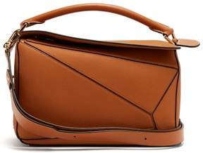 Loewe Puzzle Grained Leather Cross Body Bag - Womens - Tan