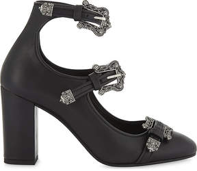 The Kooples Jane t-strap embellished leather pumps