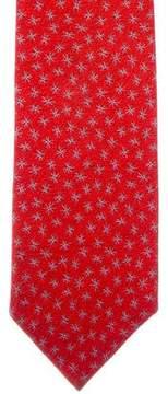 Bvlgari Geometric Star Print Silk Tie
