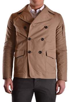 Geospirit Men's Brown Cotton Coat.