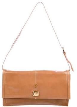 Emilio Pucci Leather Flap Shoulder Bag