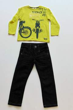 3 Pommes Motorcycle Tee & Jeans Set