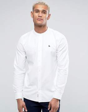 Jack Wills Heton Regular Fit Shirt With Grandad Collar In White