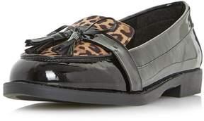 Head Over Heels *Head Over Heels by Dune Leopard Print 'Gerrie' Loafers