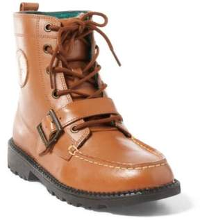 Ralph Lauren Leather Ranger Hi Ii Boot Tan Burnished Leather 3.5