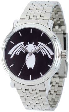 Marvel Spiderman Mens Silver Tone Strap Watch-Wma000221
