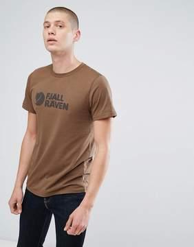 Fjallraven Logo T-Shirt in Khaki
