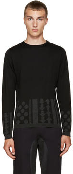 Kolor Black Intarsia Sweater