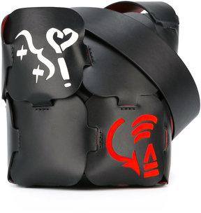 Paco Rabanne colour block shoulder bag