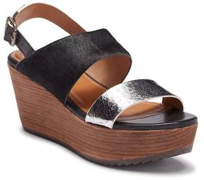 Trask Robyn Leather Platform Wedge Sandal