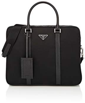 Prada Men's Slim Double-Handle Briefcase