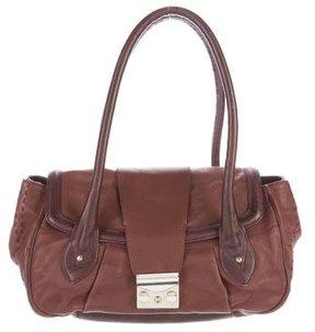 Alberta Ferretti Bicolor Leather Shoulder Bag