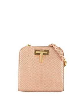 Tom Ford Cosmo Python Small T Lock Shoulder Bag