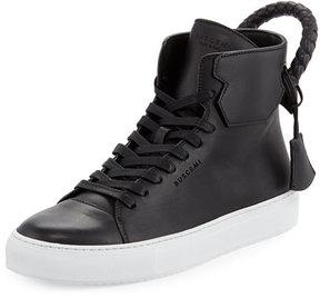 Buscemi Men's 125mm Leather High-Top Sneaker, Black