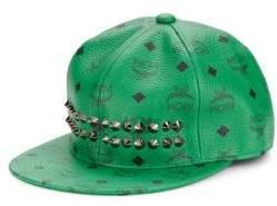 MCM Goldtone Studded Cap