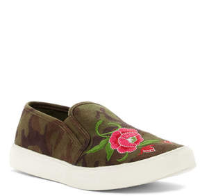 Madden-Girl Celestee Embroidered Camo Slip-On Sneaker