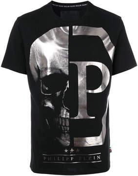 Philipp Plein skull logo printed T-shirt