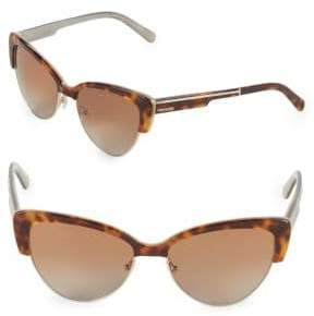Vera Wang 57MM Clubmaster Sunglasses